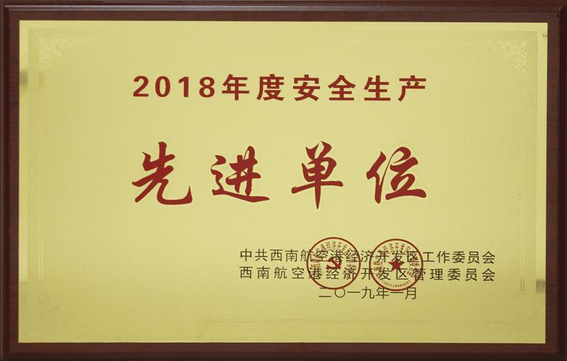 2018年度安全生产先进单位